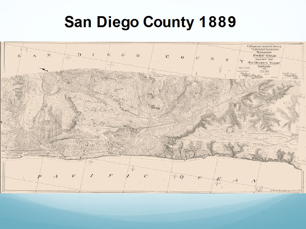 Los Peñasquitos Lagoon in 1889.  U.S. Coast Surveys.