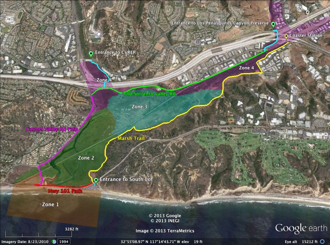Proposed improvements for trail connectivity around Los Peñasquitos Lagoon